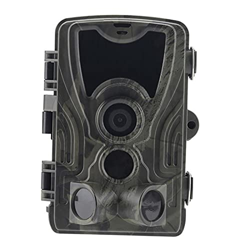 freneci Cámara Trail Game 30MP 1080P, cámara de Impermeable Sensores Infrarrojos sin Brillo LED IR, Rango Activado por Movimiento de