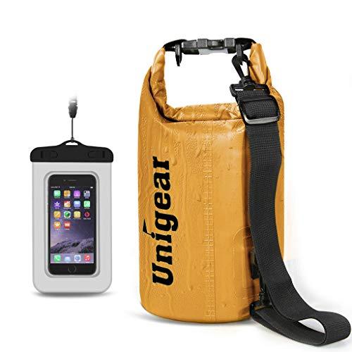 Unigear Dry Bag, 2L/5L/10L/20L/30L/40L, wasserdicht Taschen mit Handytasche und Gurte für...