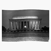 Abraham Lincoln President Dc Memorial Monument Impresionantes carteles para la decoración de la habitación impresos con la última tecnología moderna sobre papel semibrillante