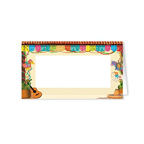 Stonehouse Collection Fiesta Party Name Place Cards - 25 Guest Seating Name Cards - Party Table Tents - Name Cards (Fiesta)