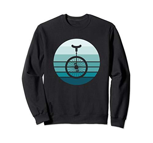 Retro Einrad Blau und Schwarz Sweatshirt