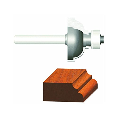 Vermont American 23142 3/16-Inch Radius Carbide Tipped Cove and Fillet Router Bit, 1/2-Inch Ball Bearing 2-Flute 1/4-Inch Shank