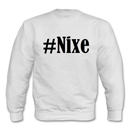 Reifen-Markt Sweatshirt Damen #Nixe Größe S Farbe Weiss Druck Schwarz