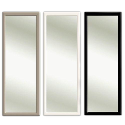 Clic-And-Get 3 colori Porta specchio specchio cornice porta sospeso specchio 35 x 95 cm in bianco e nero nero