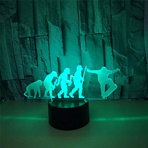 3D Night Light Skateboard 3D Light LED USB Mood 3D Night Light Light 7 colori a scelta touch switch Luminaria Table Lamp Ottimo regalo per i bambini Holiday Gift Day Day Day Day Day Love