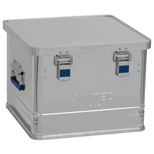 ALUTEC MÜNCHEN Transportkiste Office 50 - Aluminium Büro Box 50 Liter mit Deckel verschließbar