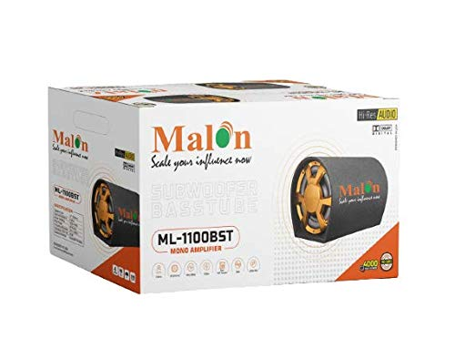 Malon ML-1100BST High Sound bass Tube with inbuilt Mono Amplifier (4000 Watt)