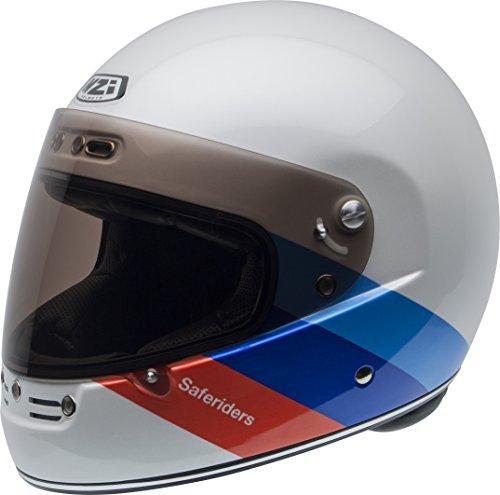 NZI casque, Blanc/Rouge/Bleu, taille M