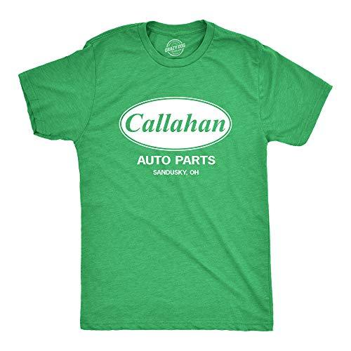 Mens Callahan Auto T Shirt Funny Shirts Cool Humor Graphic Saying Sarcasm Tee (Heather Green) - XL