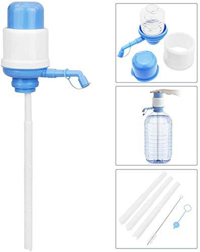 B&F Dispensador de Agua Universal para Garrafas/Botellones/Barriles Compatible con Garrafas de /5L/8L/10L/ Bomba Manual de Mano para Garrafas/Dispensador Manual de Agua A Presión(Azul)