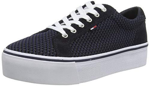 Hilfiger Denim Wmn Textile City Sneaker, Scarpe da Ginnastica Basse Donna, Blu (Midnight 403), 41 EU