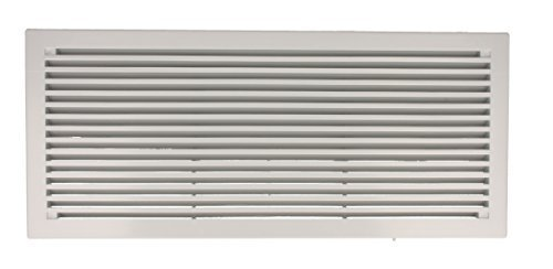 Lüftungsgitter Türlüftung Lüftung aus Kunststoff 290mm x 125mm verschiedene Farben by MS Beschläge® (Lichtgrau)