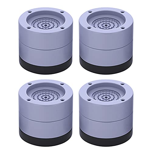 Duodo Amortiguación de golpes y ruido, paquete de 4 unidades, almohadillas para lavadora, antideslizantes, con reducción de ruido y choque de altura ajustable
