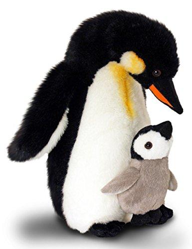 Lashuma Plüschtier Pinguin mit Baby, Keel Toys Kaiser Plüschpinguin Kuscheltier 30 cm