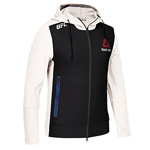 adidas Reebok Official UFC Fight Kit C4C (Black/White/Blue) Walkout Hoodie Men's