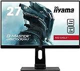 """iiyama G-MASTER Red Eagle GB2760QSU-B1 68,58 cm (27"""") Gaming Monitor WQHD (DVI, HDMI, DisplayPort, USB 3.0) 1ms Reaktionszeit, 144Hz, FreeSync, Höhenverstellung, Pivot, schwarz"""