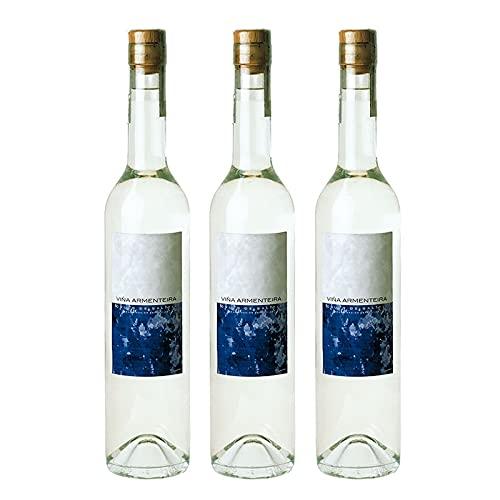 Licor de Orujo Seco Viña Armenteira de 50 cl - D.O. Rias Baixas - Bodegas Lagar de Cervera (Pack de 3 botellas)