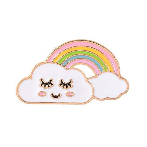 BBLLBrosche Nette Regenbogen Brosche Dame Emaille Pins Cartoon Cloud Abzeichen Denim Jacken Revers Pin Traum Schmuck Geschenk Für Kinder GeschenkStyle-3