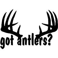 車のステッカーの装飾 20X13.7CM ANTLERS鹿狩り狩りアントラーは、独創性ビニールステッカーカーステッカーカースタイリングラック (Color Name : Black)