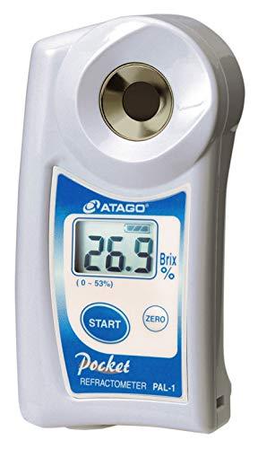 Atago PAL-1–Refractómetro Brix 0–53% Digital ideal para profesionales en la industria de alimentos y bebidas