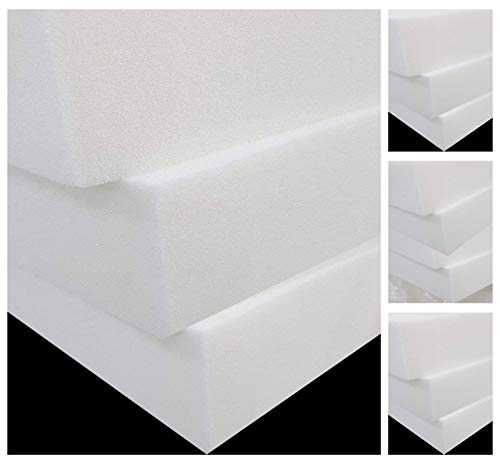 Upholstery Foam Cut to Any Size - Foam Cushions seat Pads high Density Foam Thickness 4' inch, 20' x20')