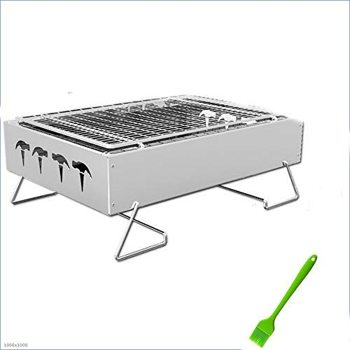 BBQ for Picnic Garden Terrace Camping Travel Portable Compact Charcoal BBQ Grill Cooker Bars Smoker Outdoor Camping Foldable Picnic Barbecue Tools WTZ012