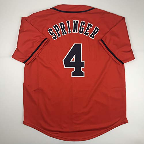 Unsigned George Springer Houston Orange Custom Stitched Baseball Jersey Size Men's XL New No Brands/Logos