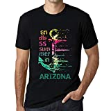 Hombre Camiseta Vintage T-Shirt Gráfico Endless Summer In Arizona Negro Profundo