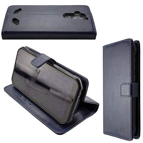 caseroxx Handy Hülle Tasche kompatibel mit Gigaset GX290 / GX290 Plus Bookstyle-Hülle Wallet Hülle in blau
