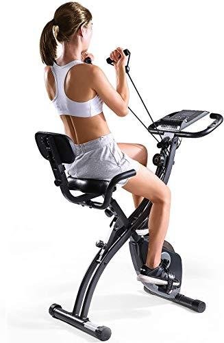 geen bland X-Bike Fitness Bike Hometrainer weerstand band systeem - Hand pulssensoren - Opvouwbare Indoor Fitness - Ergometer - Tablet houder - Opvouwbare Fitness Indoor fiets