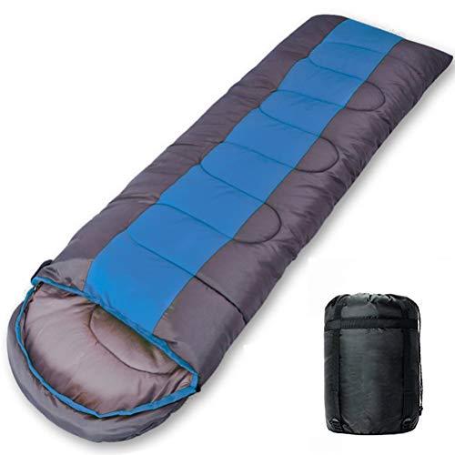 Nealpar Saco de Dormir Camping Ligero 4 Estaciones cálido y frío sobre Mochila Saco de Dormir para Senderismo al Aire Libre,Blue,1KG