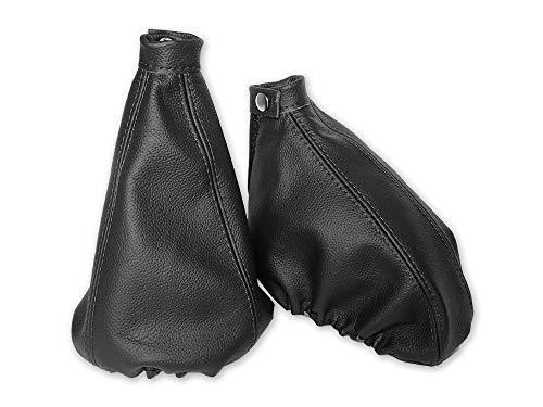 The Tuning-Shop Ltd Funda para freno de mano compatible con Alfa Romeo 147 de piel