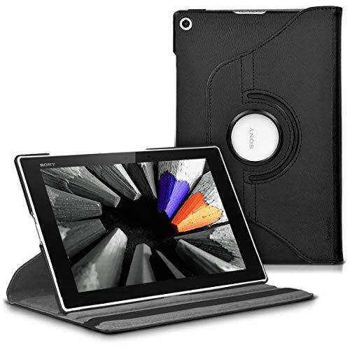 kwmobile Funda Compatible con Sony Xperia Tablet Z2 - Carcasa de Cuero sintético para Tablet en Negro