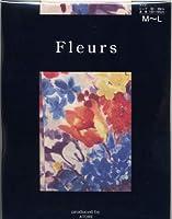 Fleurs(フルール) F-1551 プリントタイツ チフチャフ 日本製 80デニール 50デニール展開 (RE, 80デニール L~LL)