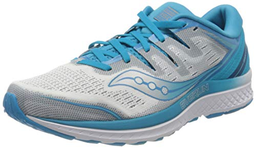 Saucony Guide ISO 2 Stabilitätsschuh Damen-Blau, Silber, Zapatillas de Running Zapato de Estabilidad Mujer, Blue, 37.5 EU