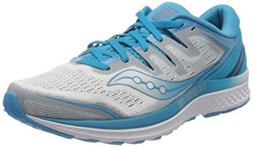 Saucony Guide ISO 2 Stabilitätsschuh Damen-Blau, Silber, Zapatillas de Running Zapato de Estabilidad para Mujer, Blue, 37.5 EU
