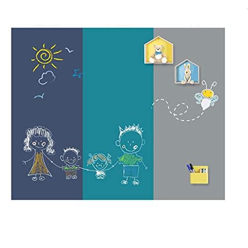Agal Tablero de dibujo Etiqueta de pared magnética de doble capa Tablero de dibujo Graffiti Tablero de dibujo regrabable y sin polvo para el hogar Tableta de escritura para la habitación de los niños