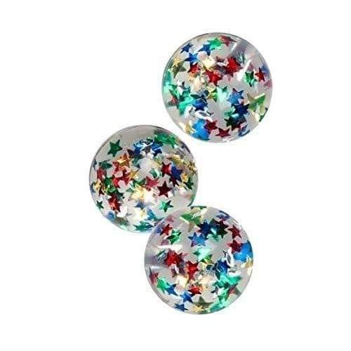 Flummi Stern 43mm 3 Stück, Gummiball, Springball, Springbälle, Mitgebsel zum Kindergeburtstag ,Spielen oder Verschenken - daydayversand
