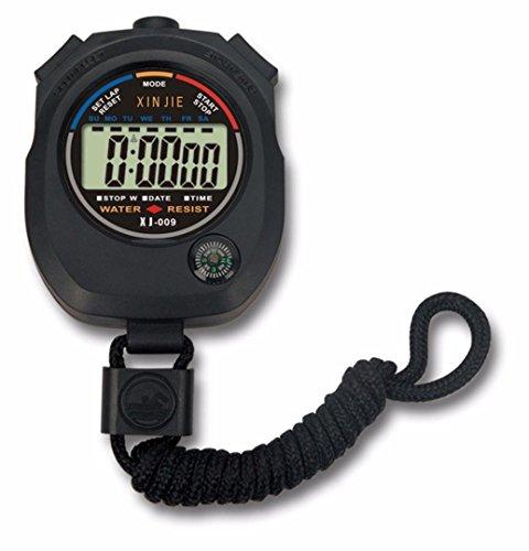 HCFKJ Impermeabile Digitale LCD Cronometro Cronografo Contatore Sportivo Allarme
