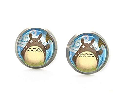 Totoro Ohrringe, Totoro Ohrstecker, Mein Nachbar Totoro Bild Ohrstecker, Kuppel Ohrringe, Anime Schmuck,