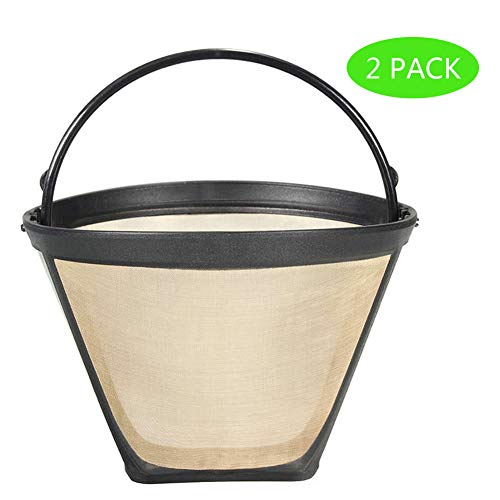 2PCS #4 Cone Reusable Coffee Filters for Ninja, Hamilton Beach Coffee Maker