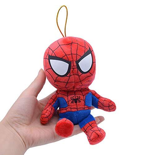 Pendentif Marvel SpiderMan de 5 pouces, jouet en peluche, pendentif de sac à dos de téléphone portable Avengers, cadeau de poupée pour étudiants, deux paquets