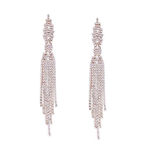 Lange Brautquaste Ohrringe für Brautkleider, 2# Gold