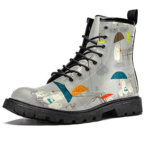 LORVIES - Modelo de paraguas de oveja de lluvia retro para hombre, zapatos con cordones de piel, (multicolor), 44.5 EU
