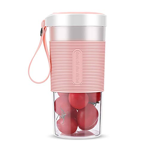 HS-XP Portable Home Juicer,Mini Multi-Function USB Rechargeable Juice Cup Easy to Carry Suitable for Travel and Family Use,The Best Gift for Kids and Adults,Pink