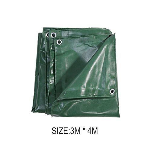 Lona de PVC Verde 3 * 4m Lona de Protección, Impermeable, Resistente al Moho, Resistente al Frío, Antienvejecimiento, Antiestático