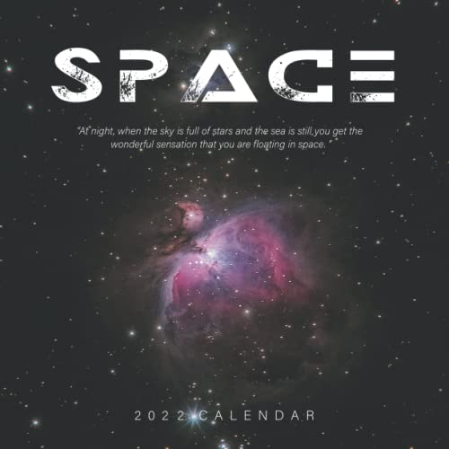 Space 2022 Calendar: Great 12-month Large Grid Calendar 8.5 x 8.5 for scheduling, planning, and note!!!