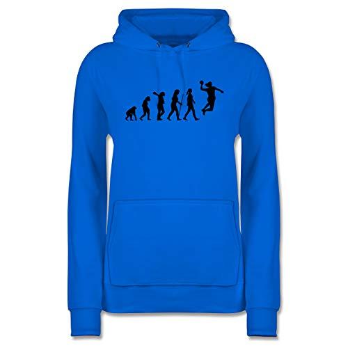 Evolution - Handball Evolution Damen - S - Himmelblau - Pullover Damen XL - JH001F - Damen Hoodie und Kapuzenpullover für Frauen