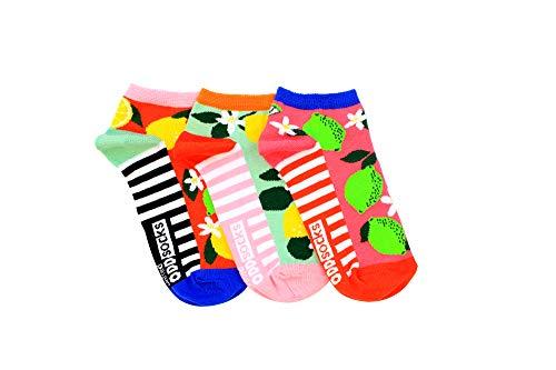 Zitrusfrüchte Füßlinge Oddsocks Socken in 37-42 im 3er Set - Strumpf