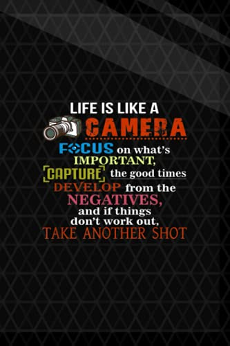 Getting Things Done Planner  Life Is Like A Camera, Take Another Shot Quote